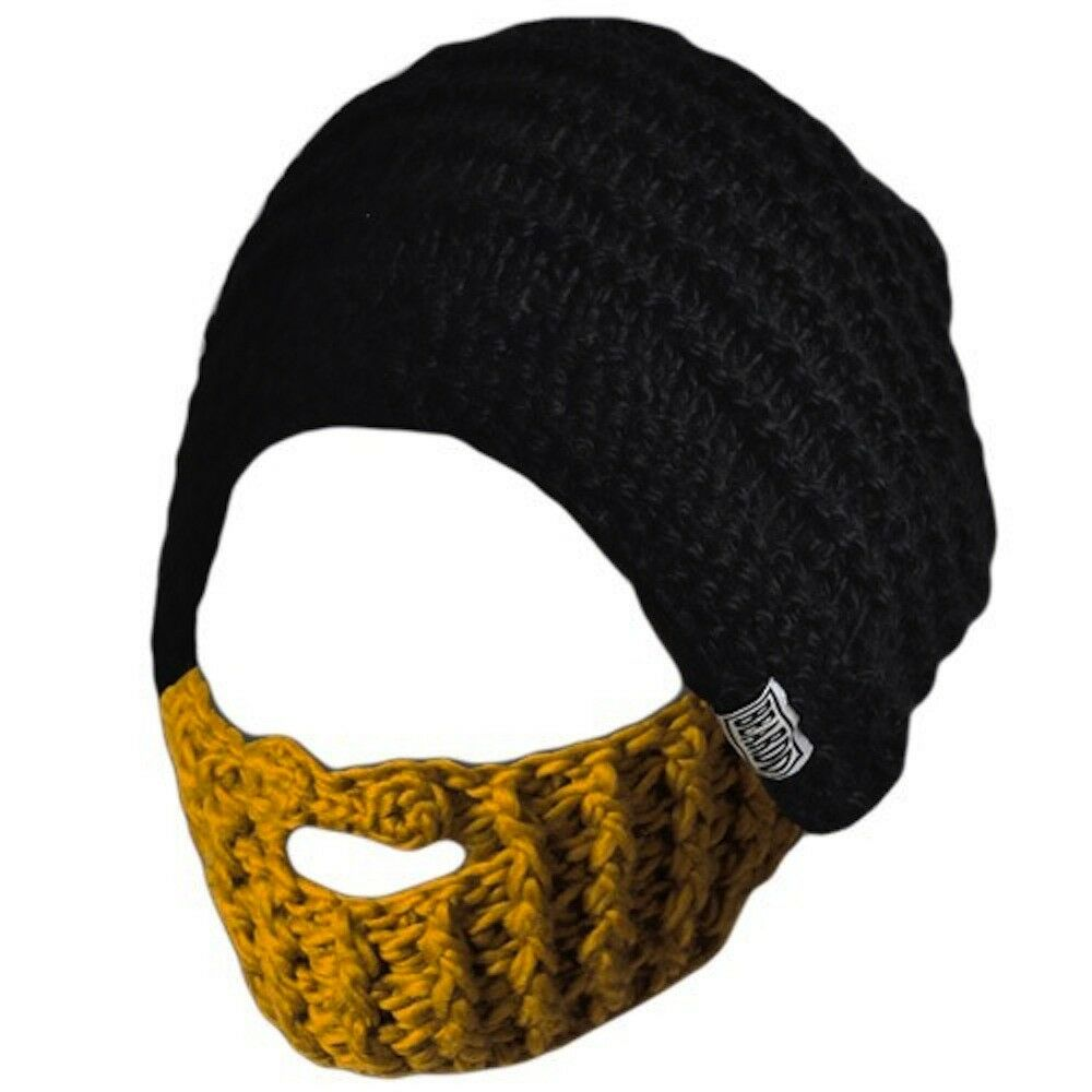 Beardo Beanie Blonde - Bartmütze   black yellow