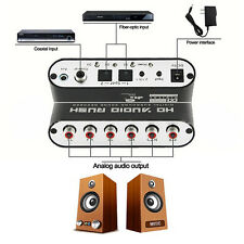 Digital Audio Decoder 5.1 Digital To Analog Audio Converter Adapter Cable New