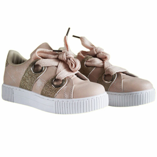 New Women/'s Ladies Trainers Lace Up Slip On Flat Sneakers Pumps Glitter Shoes