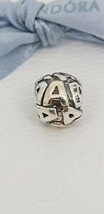 Authentic-Pandora-Two-Tone-Letter-A-Silver-14k-Gold-Initial-Charm-790298A