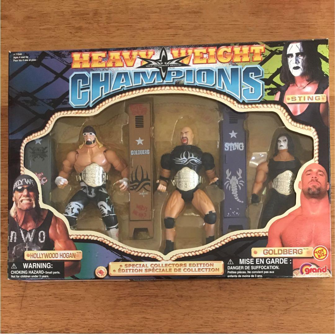 WWE Hulk Hogan  goldberg  Sting Figure Special Edition WCW Heavyweight Champ EMS