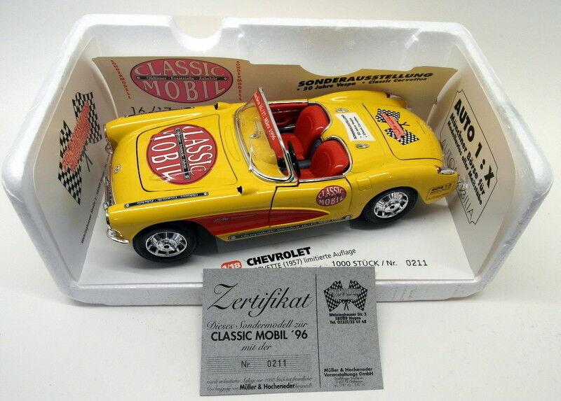 Burago 1   18 skala druckguss klassische mobil 1957 chevrolet corvette münchen 1996