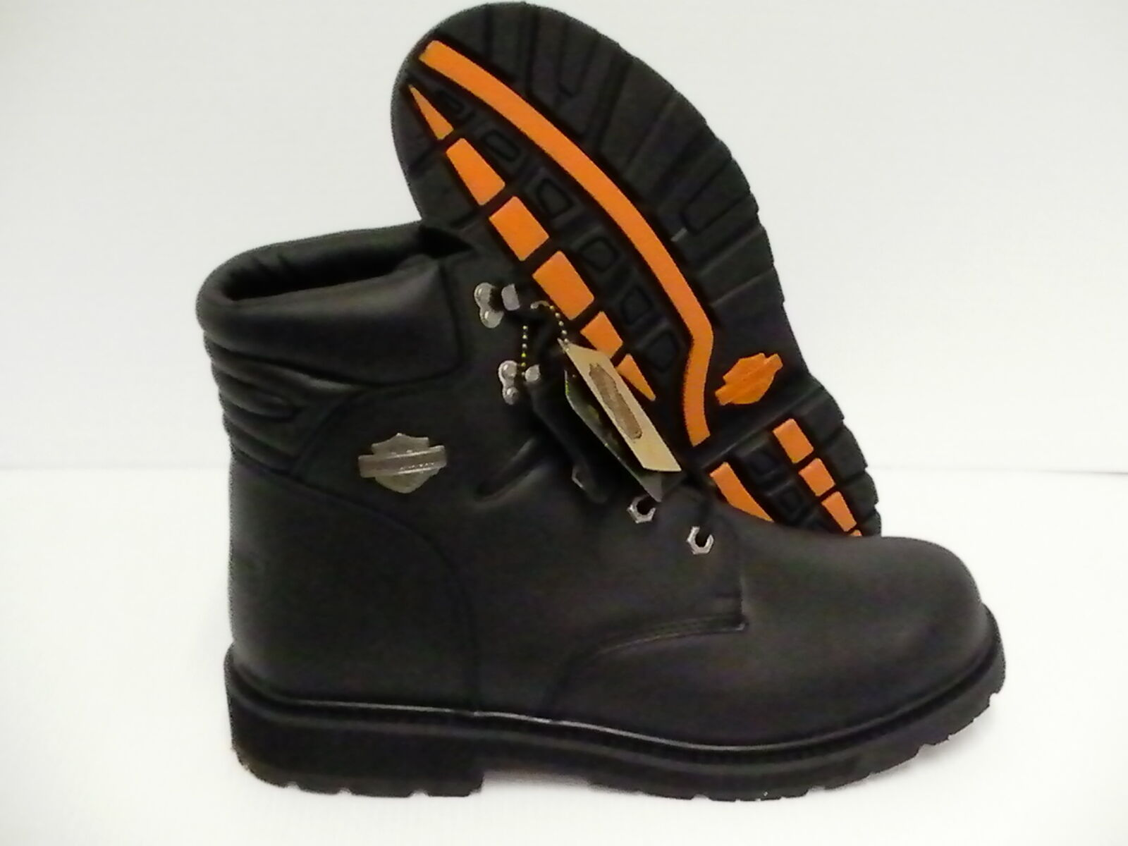 Harley davidson boots D94112 black sequoia plain toe riding size 10.5 us
