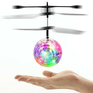 Trendy Children Flying RC Ball Led Flashing Light Aircraft Helicopter by