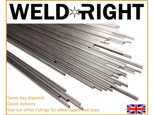 Weldright 50x ALLUMINIO ALLUMINIO 4043 TIG FILLER saldatura Aste 1,6 mm