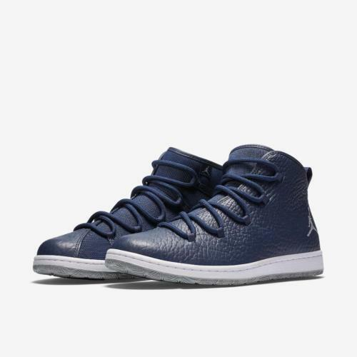 NIB Uomo NIKE AIR JORDAN GALAXY NAVY BLUE WOLF GREY BASKETBALL Scarpe Taglia 12