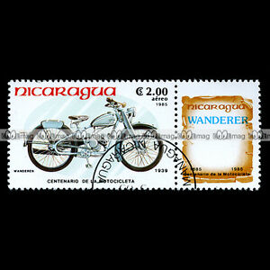 WANDERER-SP-98-MODEL-1-1939-NICARAGUA-Timbre-Poste-Moto-Motorcycle-Stamp-56