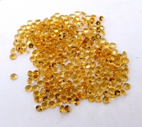 Citrine Cut Lot Loose Gemstone 500 Pcs P-1266 Details about  /58 Cts 3 MM Round Natural AAA++