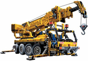 Lego Technic 8421 - Camion grue pneumatique avec moteur, autocollant Ba Ovp très bon