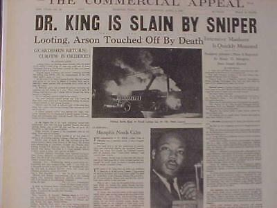 VINTAGE NEWSPAPER HEADLINE ~Dr. MARTIN LUTHER KING ...