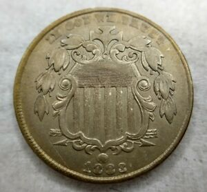 1883 Shield Nickel Gem BU / MS / Uncirculated Rainbow Toned Minor Scratch (pics)