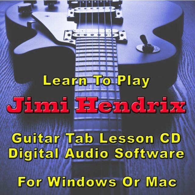 JIMI HENDRIX Guitar Tab Lesson CD Software - 110 Songs