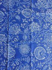 Leinen 100%Stoff Deko Tilda Dekostoff Shabby Chic Vintage Blau Blumen