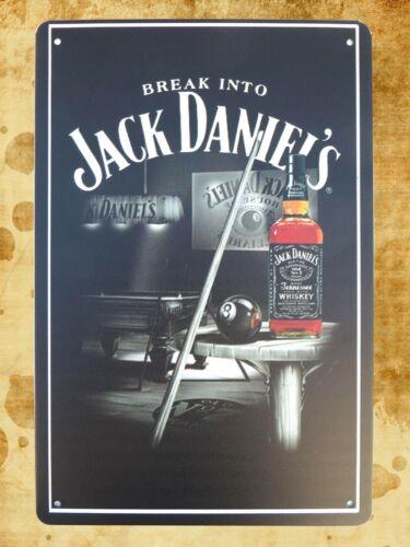 a home decor store Break into jack daniel/'s bar pub tin metal sign US Seller