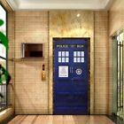 Doctor Who Wall Decal TARDIS Fathead-Style Door Bathroom Creative Funny Sticker
