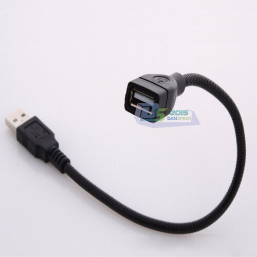 USB Charger Data Cable Extension Cord Flexible Metal Tubing for USB LED Lamp 1PC