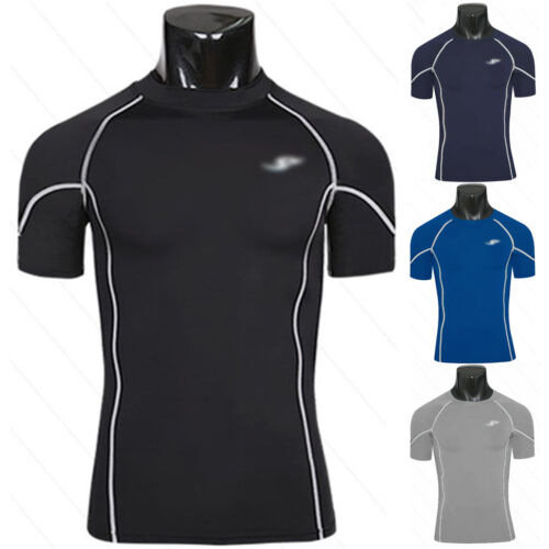 Men/'s Fitness Compression Under Base Layer Tops Sports Short Sleeve T-Shirts