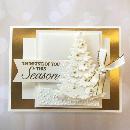 Weihnachtsbaum Metall Stanzformen Sammelalbum Papier Handwerk DIY Grußkarte Neu