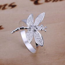 925 Sterling Silver Dragon Fly Ring Fashion Girls Jewelry Size 8, #31