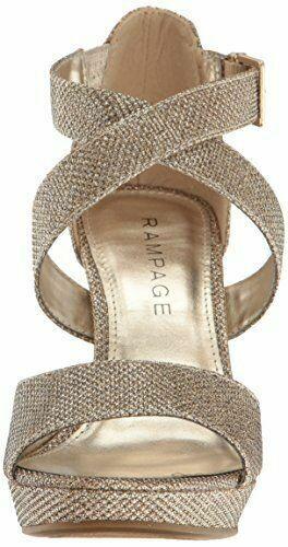 New Rampage donna donna donna Kalico Platform Dress Ankle Strap Sandal Blush Glitter Dimensione 6M d99a3f