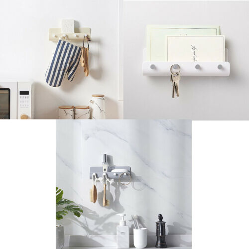 Self Adhesive Wall Hooks Key Holder Stick on Wall Door Letter Mail Box HangerD/_X