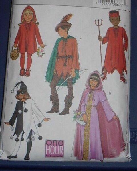 Butterick B4319 Children/'s//Girls/' Classic Character Costumes 4-14 UNCUT Pattern
