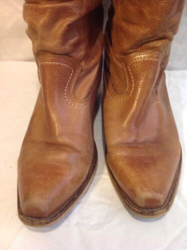 40 Brown Schuh Leather Calf Boots Size Mid TaqYw6R