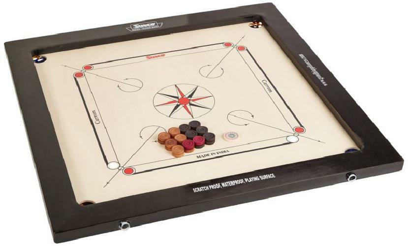New Surco Winit Carrom Wood Wood Wood Board With Coins And Striker 8mm Family Play 30x30x5 361954