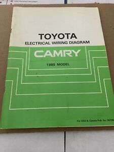 1985 Toyota Camry Wiring Diagrams Electrical Service ...