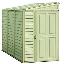 New Duramax 06625 Side Mate 4x8' Vinyl Storage Shed With Floor Kit Foundation