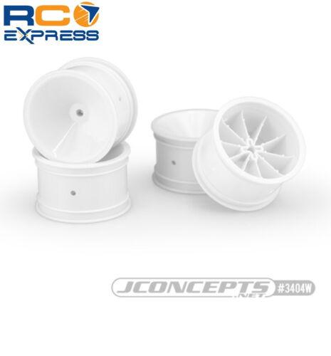 JConcepts Mono RC10 RC10B2 RC10B3 2.2 front wheel White 4  JCO3403W
