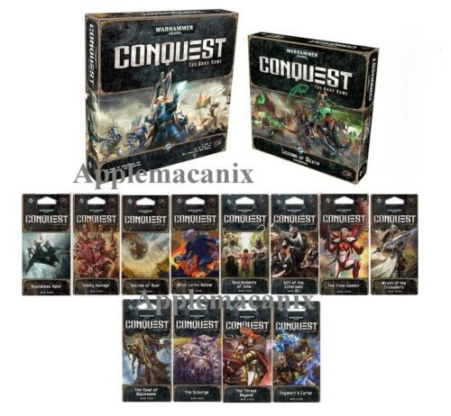 Core//12 War Packs//Exp NEW Warhammer 40K Conquest LCG Living The Card Game Lot