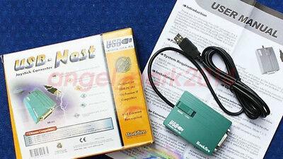 USB to 15 Pin Female Joystick Game Port Adapter Nest Converter PCCABLES.COM
