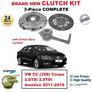 FOR VW CC (358) Coupe 2.0TDi 2.0tdi 4motion 2011-2016 NEW 3-PC CLUTCH KIT + CSC