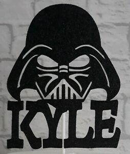 Stupendous Personalised Darth Vader Any Name Birthday Cake Topper Ebay Birthday Cards Printable Trancafe Filternl
