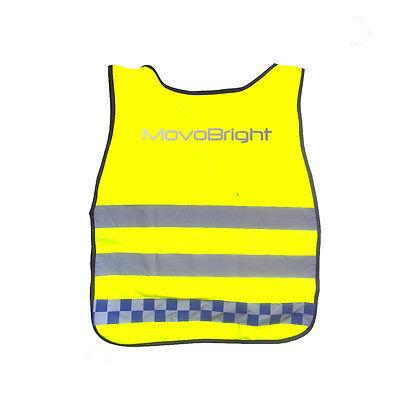 Police Bright Hi Viz Riflettente Di Notte Sicurezza Bib Canotta Tabard Ciclismo Correre Camminare Nite-mostra Il Titolo Originale Elegante Nello Stile