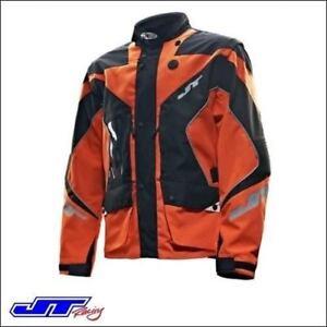 Giacca-da-Enduro-Fuoristrada-Moto-Jt-racing-SIX-DAYS-JACKET-Arancio-e-Nera