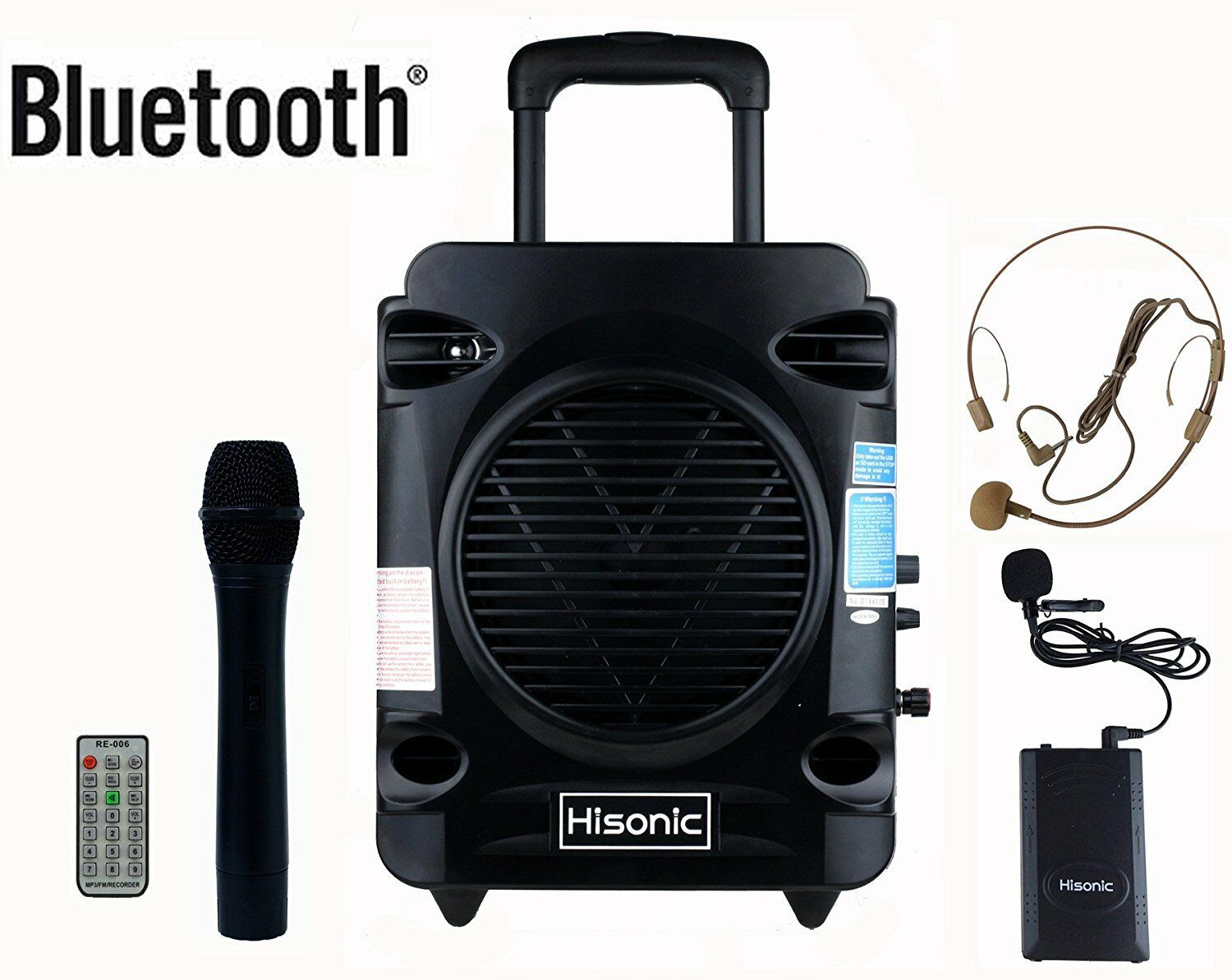 Hisonic HS700 Rechargeable Portable PA System with Dual Wireless Microphone