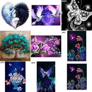 Cn _ DR7 Arte Corazón de Flores 5D Diamante Pintura Bordado Bricolaje