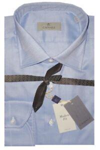345-NEW-CANALI-LIGHT-BLUE-DIAMOND-WEAVE-DRESS-SHIRT-MADE-ITALY-42-16-5