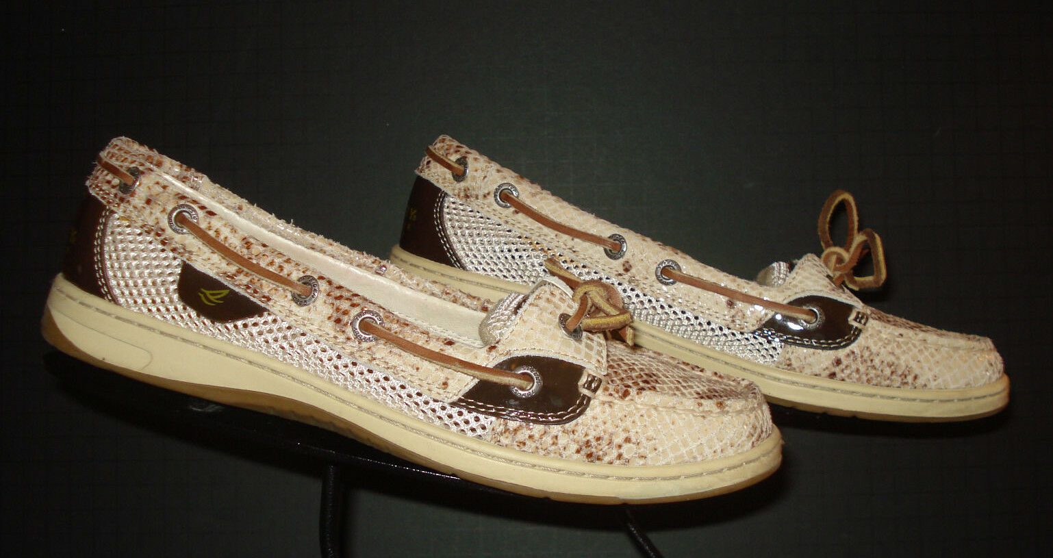 Sperry Top Sider Faux-Reptile Classic Boat shoes Loafer Sz. 7.5M EXCELLENT