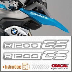 2x-R1200-GS-White-BMW-ADESIVI-PEGATINA-R1200GS-AUTOCOLLANT-R-1200-AUFKLEBER
