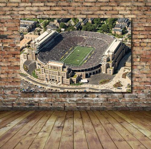 Notre Dame Football Stadium Print Canvas or Gloss Fighting Irish Football Field
