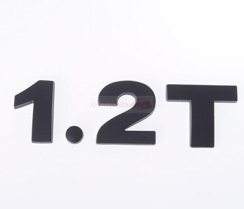 2.1T 2.1 T 1.2T Black Turbo Engine Metal Rear Trunk Emblem Badge Decal Sticker