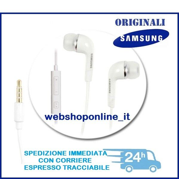 Cuffie Auricolari Bianco EHS64AVFE originali per SAMSUNG GALAXY Note Edge