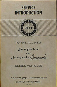 Details about 1967 Jeepster and Commando Service Introduction Manual on