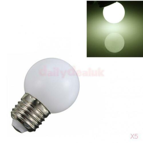5x 220V E27 3W Energy Saving LED Ball Light Bulb Party Globe Lamp Warm White