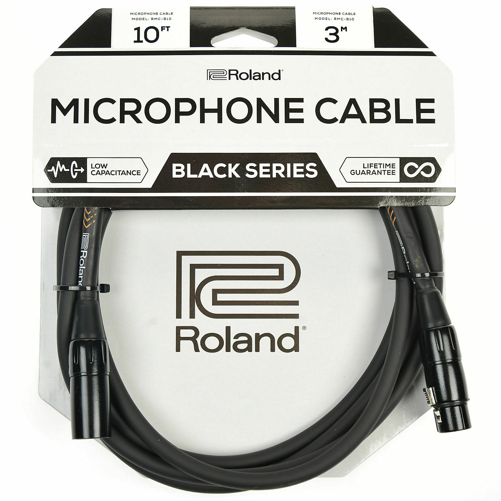 Roland Black Series Balanced Microphone Cable 5 ft.//1.5 m RMC-B5