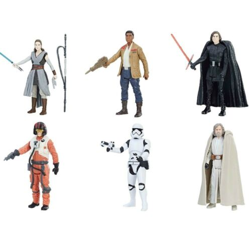"Star Wars 3.75/"" Last Jedi Orange Wave 1 set Luke Rey Kylo Finn PoE NEW EN STOCK"