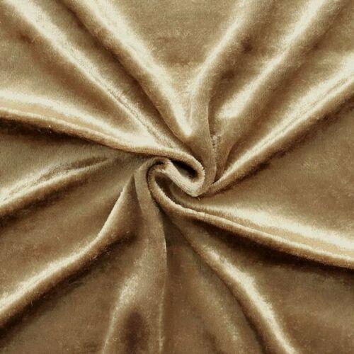 Arredamento velluto tessuto guasto velluto metraggio Café-CREMA 145cm larga TESSUTO CARNEVALE